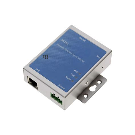 Coolgear Industrial 1 Port DB9 RS-232/422/485 Serial over RJ45 Device Server