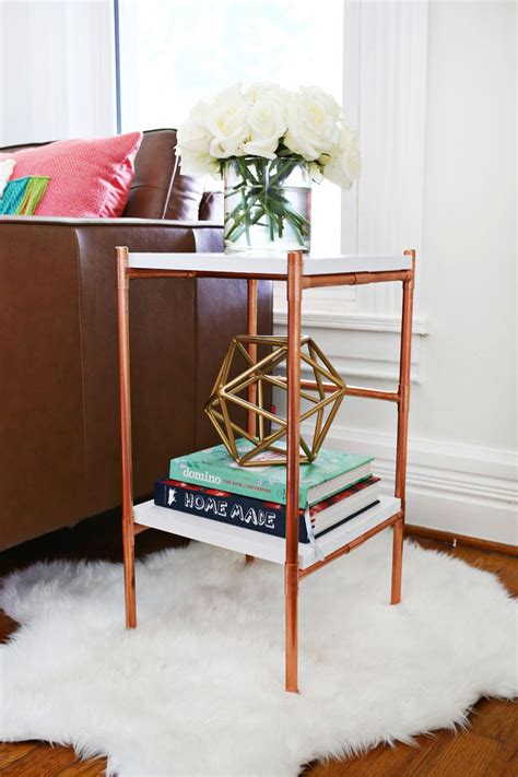 Copper Pipe Wood Side Table Diy Ideas