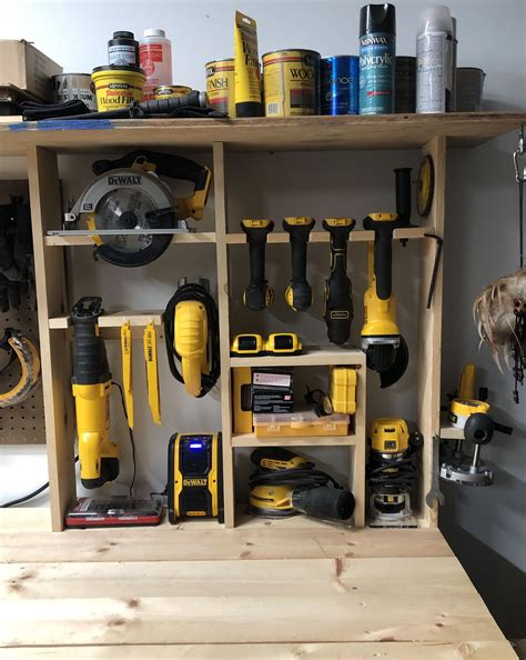 Cordless Tool Storage Cabinet Plans