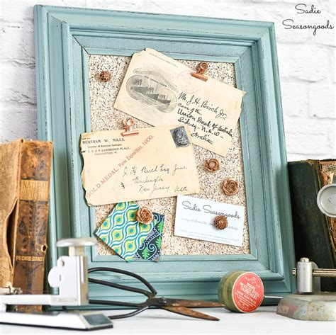 Cork Board Picture Frame Diy