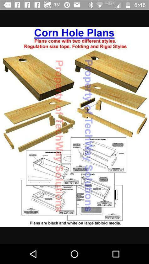 Corn Hole Plans And Diagram