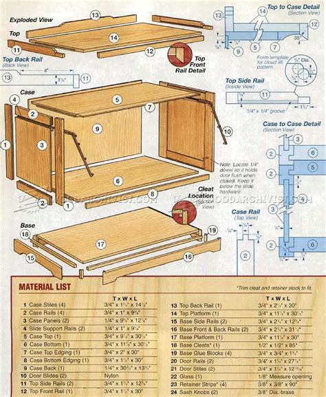 Corner Barrister Bookcase Woodworking Plans