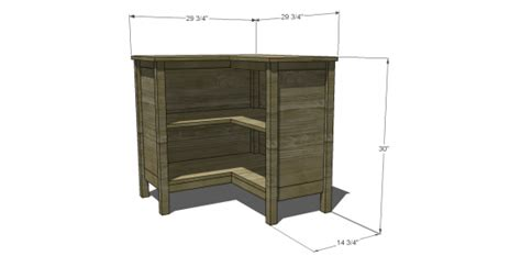 Corner Bookshelf Woodworking Plans