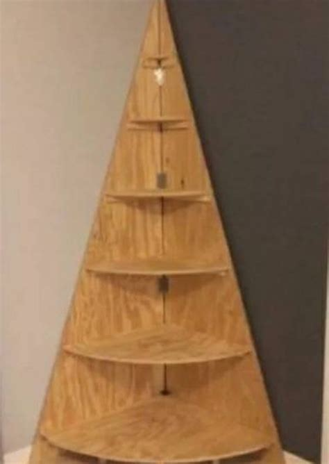 Corner Christmas Tree Shelf Plans Free