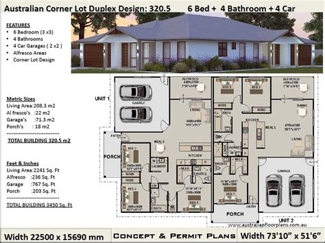 Corner Duplex Floor Plans With Garage
