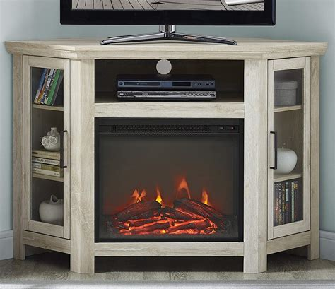 Corner Entertainment Cabinet With Fireplace