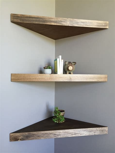 Corner Floating Wood Shelves Diy