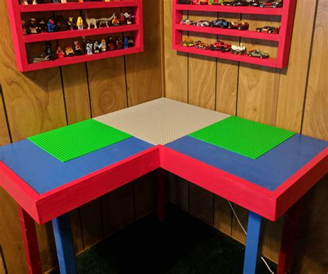 Corner Lego Table Plans