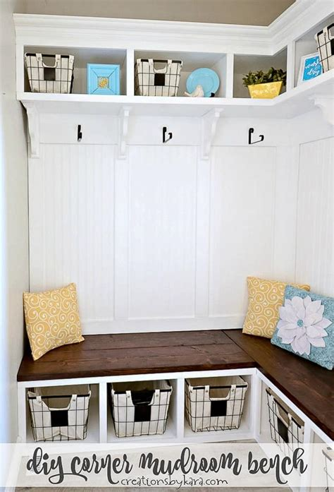 Corner Mudroom Bench Plans