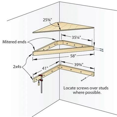 Corner Tv Shelf Plans