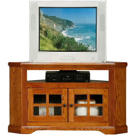 Corner Tv Stand Oak Glass