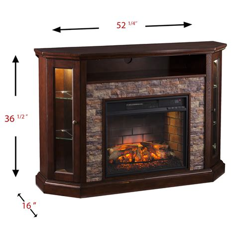 Corner media cabinet with fireplace Image