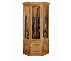 Best Corner gun cabinet plans
