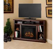 Best Corner media cabinet with fireplace