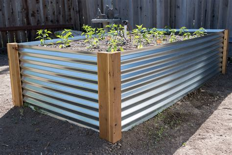 Corrugated Iron Garden Bed Diy
