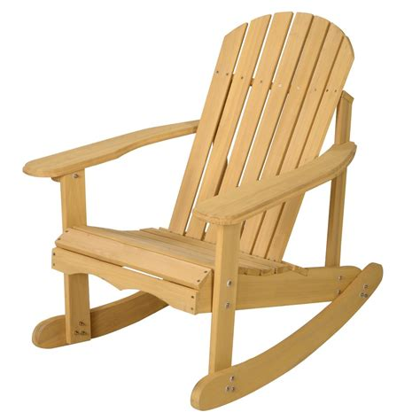 Costway-Outdoor-Adirondack-Wooden-Rocking-Chair