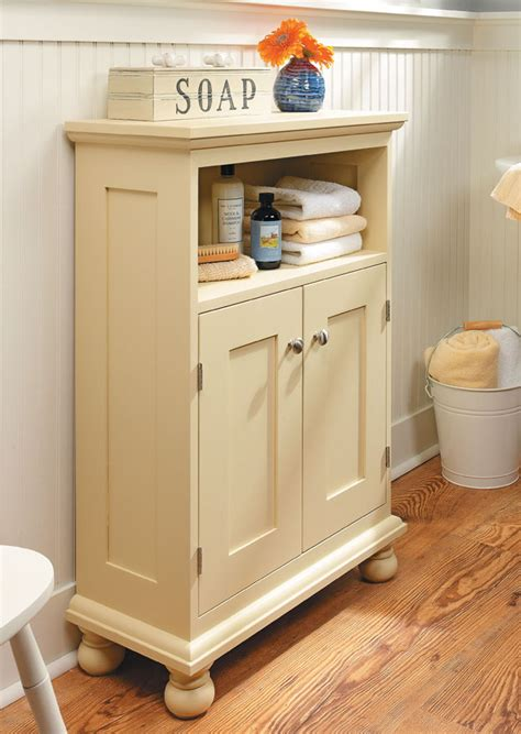 Cottage Style Storage Cabinet Woodworking Plan