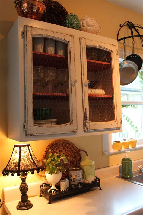 Country Cabinets With Chicken Wire