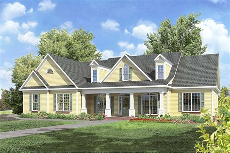 Country Homes With Porches Plans