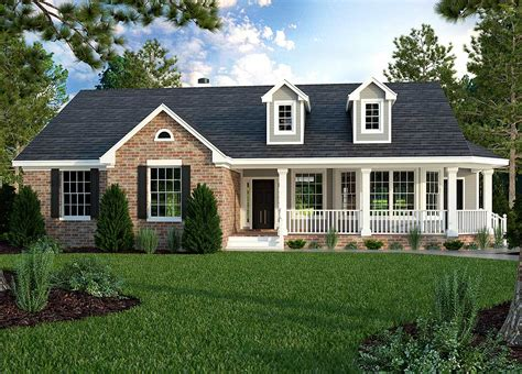 Country House Plans With Side Porches On Ranch
