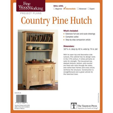 Country Pine Hutch Plans