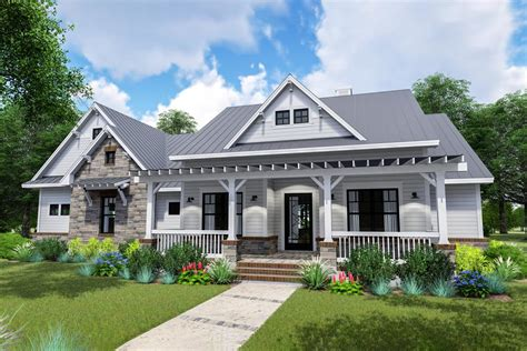 Country Style House Plans With Open Floor Plans And Porches