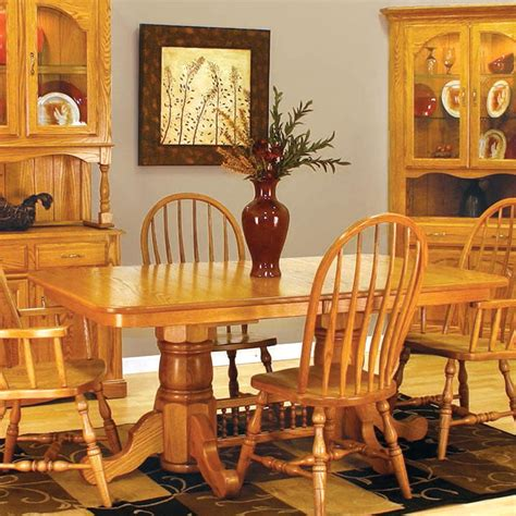 Country Style Oak Dining Room Chairs