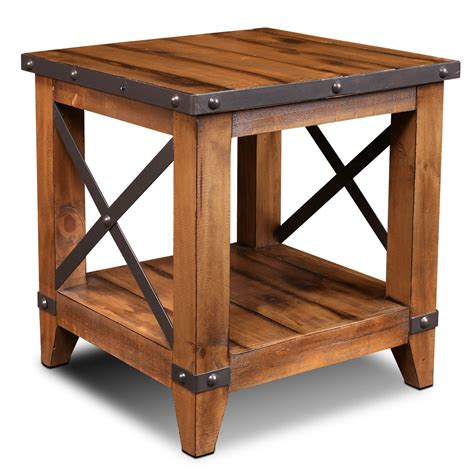 Country rustic end tables Image