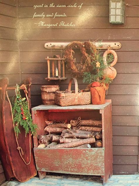 Country Primitive Outdoor Decor Ideas
