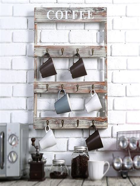 Country-Rustic-Diy-Unique-Coffee-Mug-Wall-Rack
