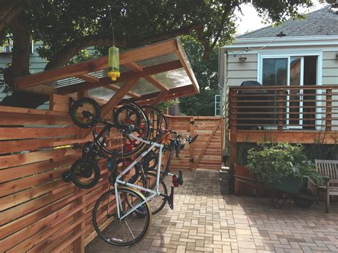 Covered Bike Rack Diy