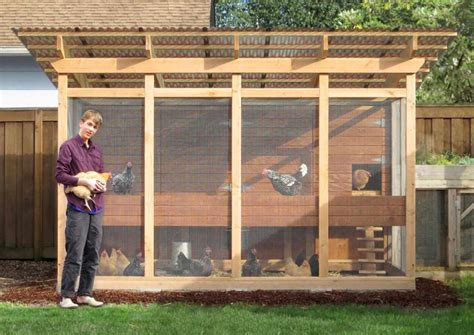 Covered Chicken Pen Plans