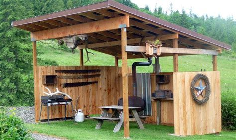 Covered Picnic Storage Area Plans