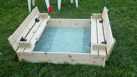 Covered Sandbox With Built in Seats Plans For Houses