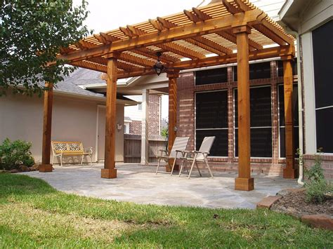 Covered Wood Pergola Plans