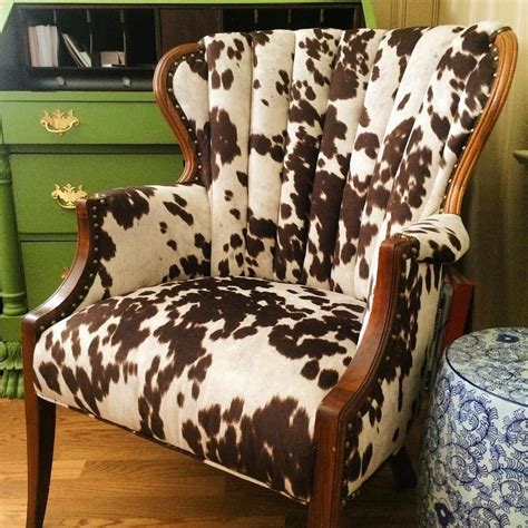 Cow-Print-Fabric-Chair-Diy