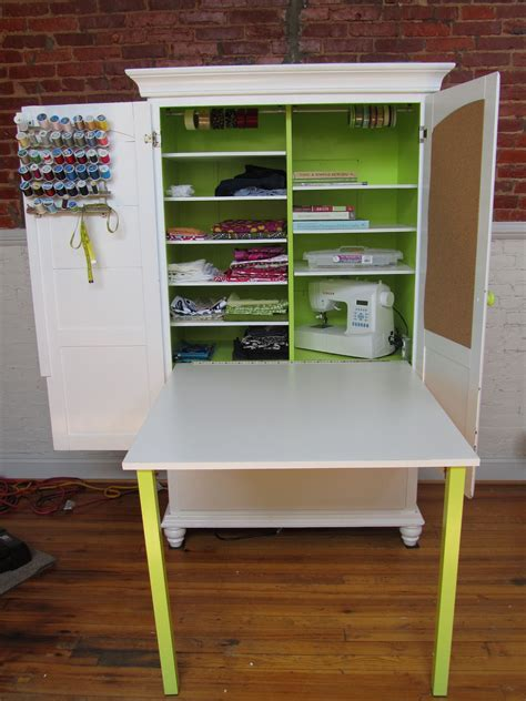 Craft Cabinet Armoire With Table