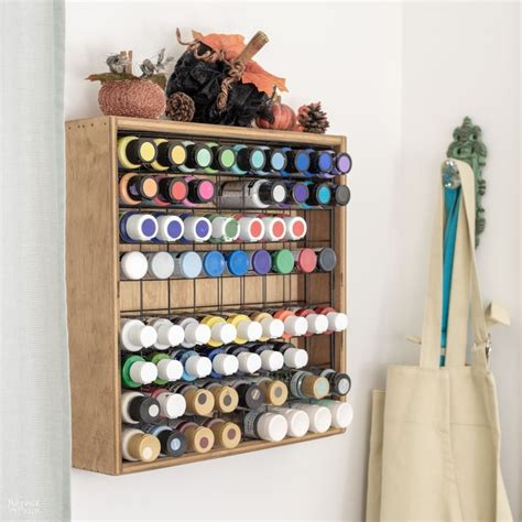 Craft Paint Storage Rack Diy School