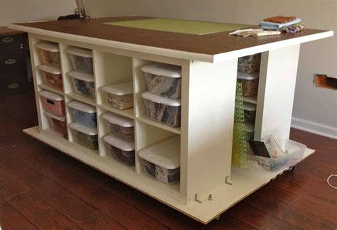 Craft Table On Wheels Diy