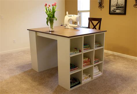 Craft Table Plans Using Cubbie Storage Furniture