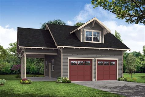 Craftsman Garage With Apartment Plans