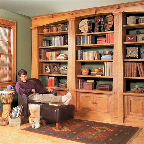 Craftsman Style Built In Bookcase Plans