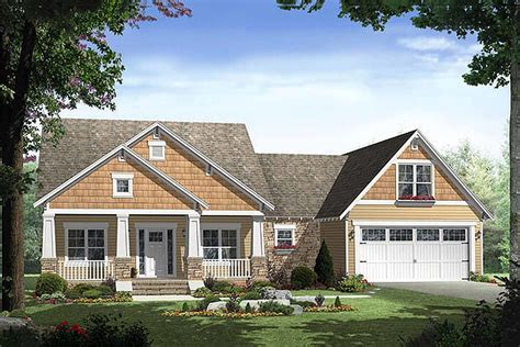 Craftsman Style House Plans Rear Garage Home
