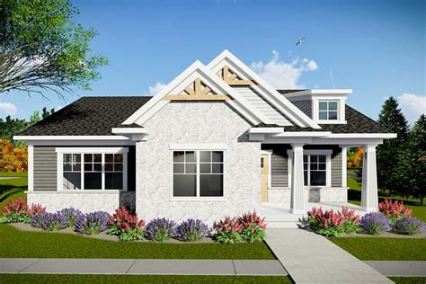 Craftsman Style House Plans Rear Garage House