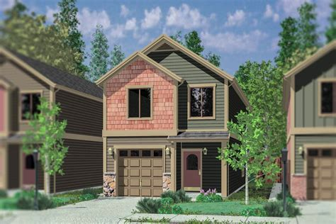 Craftsman Townhouse Building Plan