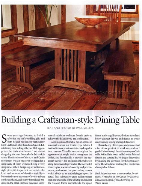 Craftsman-Dining-Table-Plans