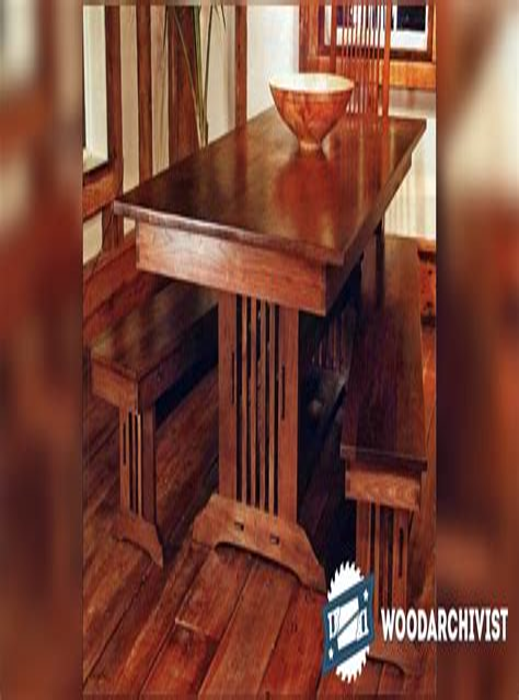 Craftsman-Dinning-Table-Bench-Plans