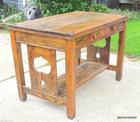 Craftsman-Mission-Library-Table-Plans