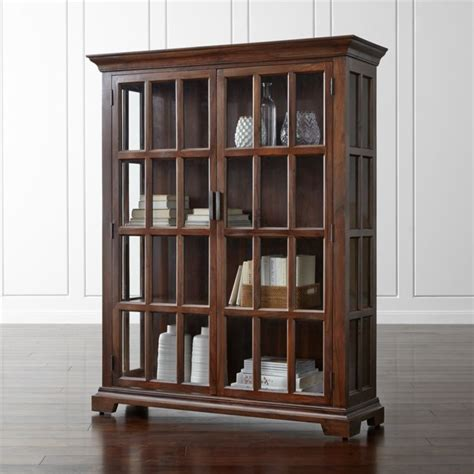 Crate And Barrel Display Cabinet