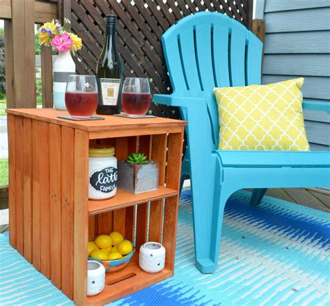 Crate Outdoor Furniture Diy Table